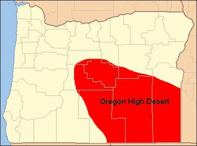 Oregon's High Desert Map of Oregon High Desert Country.jpg