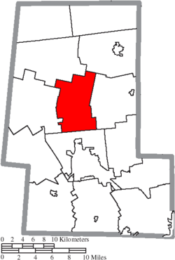 Location of Taylor Township in Union County
