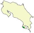 Mapa de distribución del oso hormiguero gigante en Costa Rica.PNG