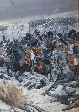 Battle of Eylau - The Grenadiers à Cheval de la Garde Impériale charge at Eylau.
