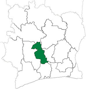 Marahoué - Marahoué Region upon its creation in 1997. Marahoué retained these boundaries until 2000, when it and Haut-Sassandra Region were divided to create Fromager Region.