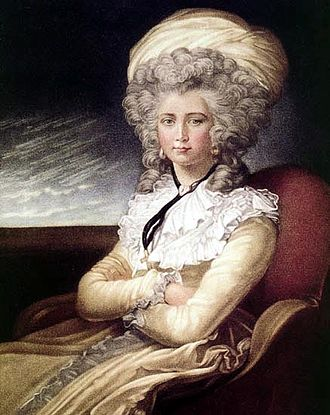 Maria Cosway - Self-portrait of Maria Cosway, 1787.