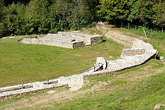 Virunum - The Amphitheatre of Virunum, northern part