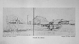 Fazenda dos Afonsos - Desenho de Maria Graham