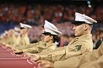 Marines stand together to unfurl Old Glory at 38th annual Holiday Bowl 151230-M-HF454-003.jpg