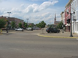 A view of Market Street Plaza in Historic Boneyfiddle