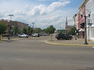 Portsmouth, Ohio - A view of Market Street Plaza in Historic