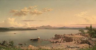 Lake George (New York) - Lake George, 1862, painted by Martin Johnson Heade