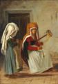 Martinus Rørbye - Huslig scene i Cervara - 1836.png
