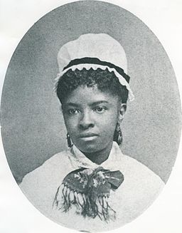 Black and white portrait of a young Mary Eliza Mahoney