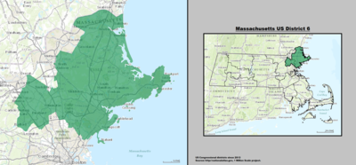 Massachusetts's 6th congressional district - since January 3, 2013.