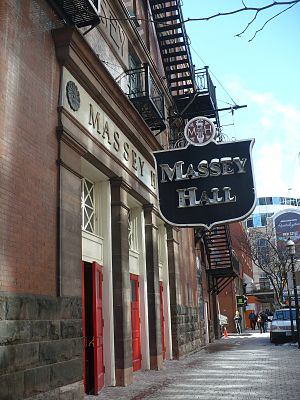 Massey Hall - Massey Hall in February 2011 (showing entrance on Shuter Street)