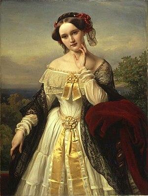 Wesendonck Lieder - Portrait of Mathilde Wesendonck (1850) by Karl Ferdinand Sohn