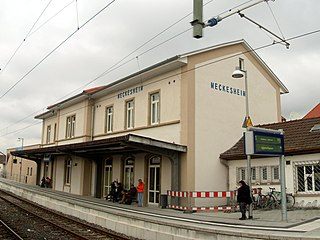Meckesheim station railway station in Meckesheim, Germany