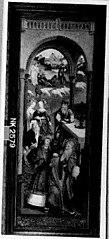 Linkerzijluik van een triptiek met voorstellingen uit het leven van Joachim en Anna: de weigering van het offer van de kinderloze Joachim