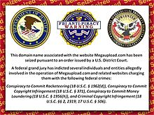 L'avviso apposto dall'FBI sul sito dopo la chiusura
