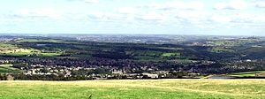 Meltham - Image: Meltham Village viewed from Wessenden Moor