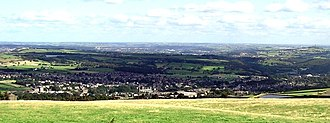 Meltham - Image: Meltham Village viewed from Wessenden Moor
