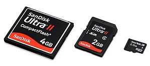 Memory card - Miniaturization is evident in memory card creation; over time, the physical card sizes grow smaller.