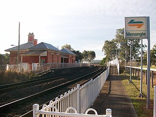 Menangle railway station