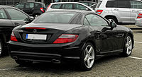 Mercedes-Benz SLK 200 BlueEFFICIENCY Sport-Paket AMG (R 172) – Heckansicht (1), 14. August 2011, Velbert.jpg