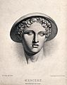 Mercury (Hermes). Lithograph by B.R. Green. Wellcome V0035813.jpg