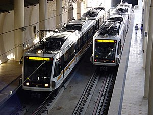 Los Angeles Metro Rail - Two Siemens P2000 trainsets on the Gold Line