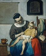 Metsu, Gabriel - Sick Child, the