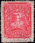 Mexico 1896-97 2c perf 12 Sc258 used.jpg