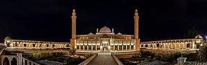 Juma Mosque, Shamakhi - Panoramic night view
