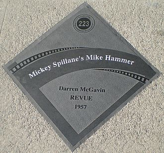 Darren McGavin - The diamond for Darren McGavin as Mike Hammer on the Studio City Walk of Fame