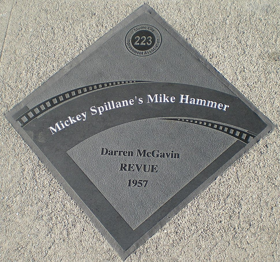 Mickey Spillane%27s Mike Hammer Diamond Studio City Walk of Fame