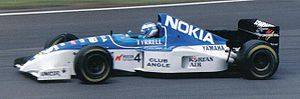 Tyrrell Racing - Mika Salo driving for Tyrrell at the 1995 British Grand Prix.