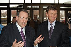 Mike Huckabee and Bob Vander Plaats November 2010.jpg