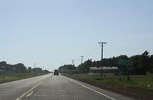 Milladore, Wisconsin - Looking west in downtown Milladore