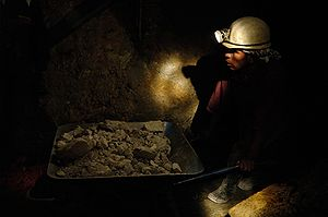 "Miner in a mine of the ""Cerro Rico"" ..."
