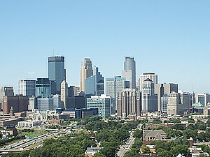 Climate of Minneapolis–Saint Paul - Minneapolis on a sunny summer afternoon
