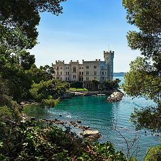 Friuli-Venezia Giulia - Miramare Castle, built by Archduke Maximilian of Austria in Trieste