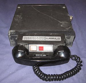 Mobile radio telephone - A mobile radio telephone.