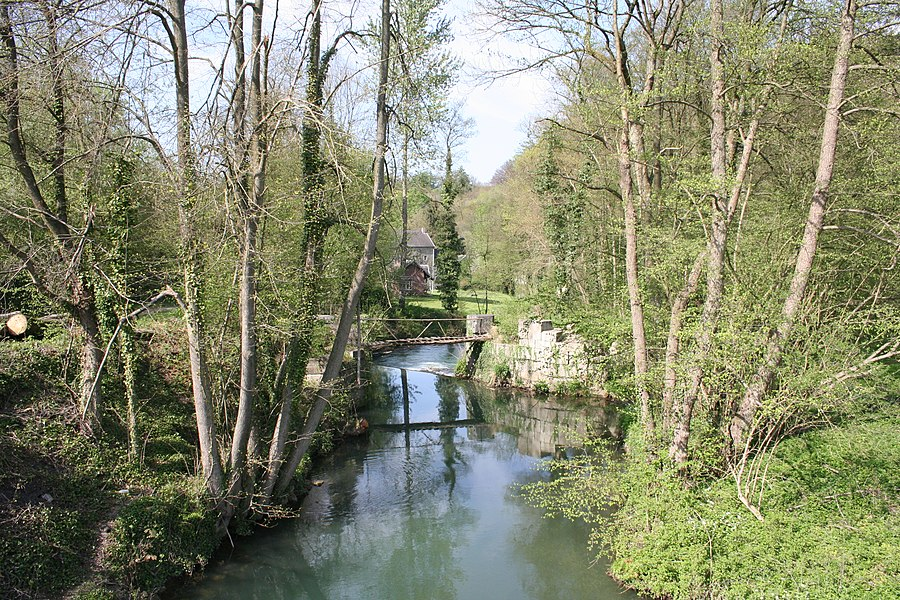 "Modave   (Belgium), the Hoyoux river in the ""Pont de Bonne"" hamlet."
