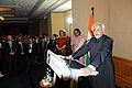 Mohd. Hamid Ansari addressing at a reception, hosted in his honour by the Indian High Commissioner in Australia, Mrs. Sujatha Singh, in Perth, Australia. The Indian High Commissioner in Australia.jpg