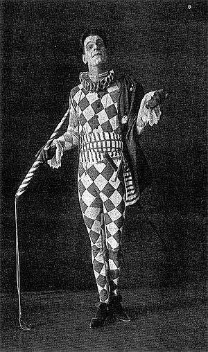 Arlecchino (opera) - Alexander Moissi in the  title role