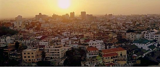 Skyline of Mombasa from old town