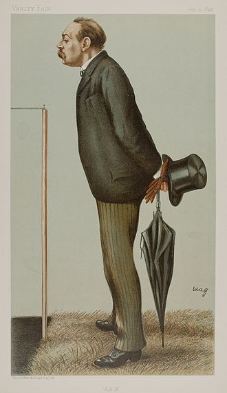 Montague Shearman - As caricatured by wag (Arthur George Witherby) in Vanity Fair, July 1895