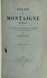 Michel de Montaigne: Essais