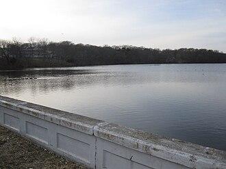Mastic, New York - Forge River along Montauk Highway
