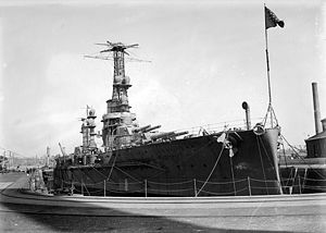 Rivadavia-class battleship - Moreno in drydock, October 1914.