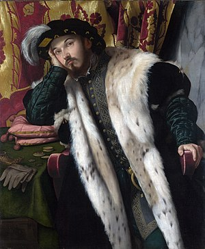 Moretto da Brescia - Portrait of Fortunato Martinengo Cesaresco, 1542, Londra, National Gallery
