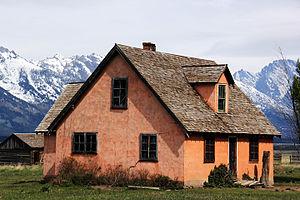 Mormon Row Historic District - House on the John Moulton ranch