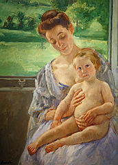 Mother and Child in the Conservatory